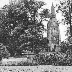 Muston church from a post card franked in December 1922.