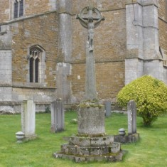 Muston War Memorial Cross before restoration