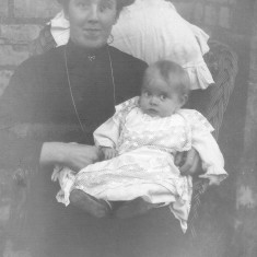 My great grandmother Sarah Coy (nee Smith) with her son Cyril in 1899.