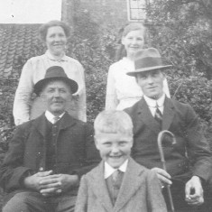 This picture shows my great grandparents Francis and Annie (L), with Fred and Susan Bray (R) and a young William (Bill) Bray in the centre, c.1920. | Iain Coy