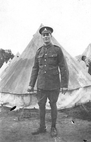 My great uncle William Henry Coy in the uniform of the Royal Field Artillery. Killed at Boezinge in Belgium, August 1917 and commemorated on the war memorial at Muston Church. | From the collection of Iain Coy