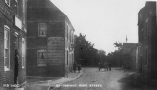 1900s view of the Rutland Arms from a post card posted on the 9th January 1914  stating