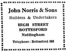 John Norris & Son advert from the 'Cross & Stocks