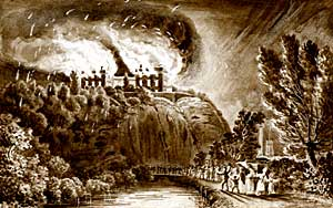 Nottingham Castle 10th October 1831