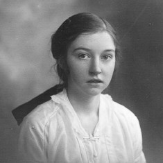 Olga Shipman from Muston, 1920s. I can remember her brother George and his shotgun on a beam in their living room!