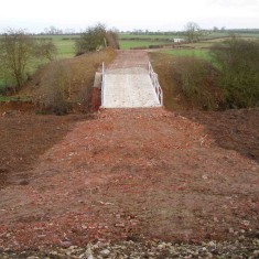 The regraded approach to the new '3 Arch Bridge'