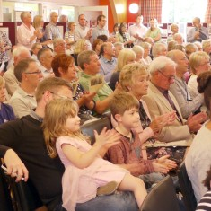 Standing room only in the village hall when the Bottesford Parish 1st World War Centenary Project launch opened on Sunday 28th September