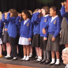 Bottesford Primary School children performed songs from WW1, with actions and perfect diction