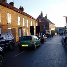 Holding up 'rush hour' High Street traffic