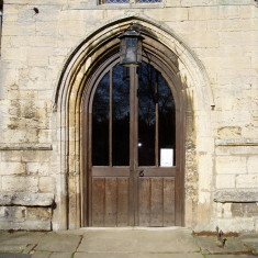 Church Porch Outer Oak Doors made by John Panter in the late 1970's