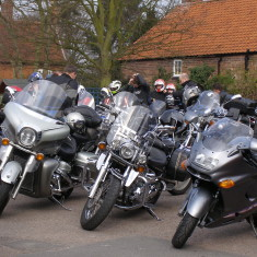 The bikes gleam with pride