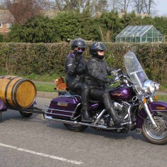 Thirsty work, this biking!