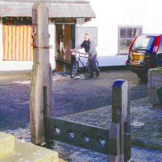 The stocks and whipping post shortly before the incident