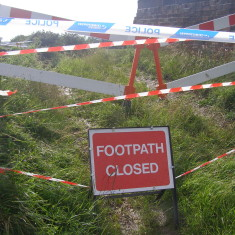 A warning sign, stating the all too obvious.