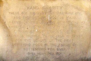 Plaque at Hand's Walk, Bottesford