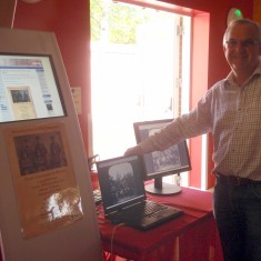 Touch screen Bottesford Living History Website and 3D simulation of Stereoscopic WW1 photographs