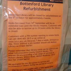 Notice of the Bottesford Library Refurbishment