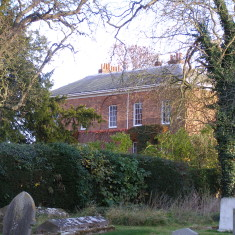 Muston Rectory from the churchyard