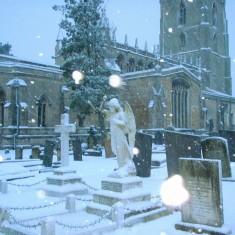 St. Mary's Churchyard, twilight,  Dec. 2010