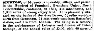 Who Lived in Muston in 1851?