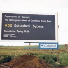 'A52 Bottesford Bypass'  - December 1987