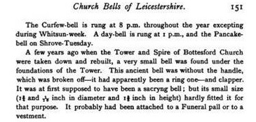 Extracts from The Church Bells of Leicestershire by Thomas North 1876