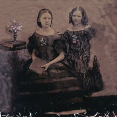 A rare Victorian glass positive image of