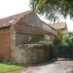 Locality (14). Stone wall which was once part of an old farm house, Woolsthorpe Lane.