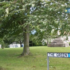 Locality (15). Muston Green and the plinth of the cross, Woolsthorpe Lane.