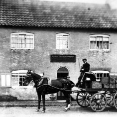 Locality (21). Deliveries at The Wheatsheaf, now the Gap Inn, Muston, 1896.
