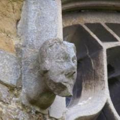 A gargoyle at Muston church.