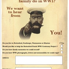 Bottesford Parish WW1 Project Poster - reverse side