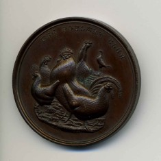 Poultry Medal awarded to Mr. Harry Bateson in the 1920's.