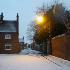 Chapel Street in the snow, Dec 20th 2009