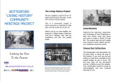 Living History introductory leaflet
