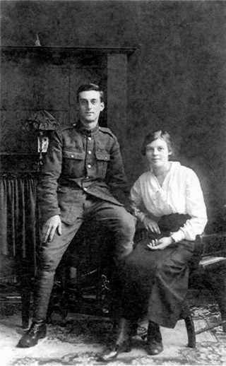 Pte. Lewis Spencer with his fiancée Hilda James