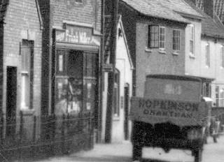 Frank Millers Grocery and Hopkinson of Grantham van c 1930