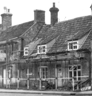 No 2 and The Granby Arms just before renovation