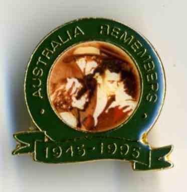 Australia Remembering 1945 - 1995 commemorative lapel badge