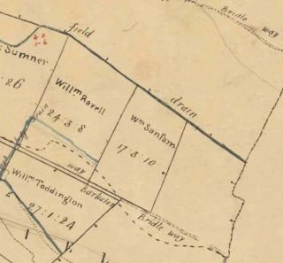 William Ravell's land adjoining Barkestone Lane.