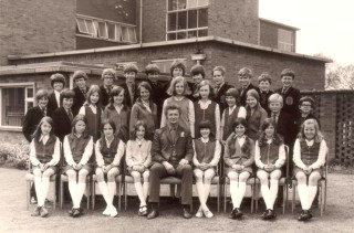 Form 2.G (1972-3) At Belvoir High School.  (With huge thanks to Andrew Brown for sending me this).  Top Row; Mark Brooks, *John Hallam, Barrie Ablewhite, *Ian Coleman, Nicholas Buxton, Neil *Canham, (?) *Andrew Tilley, *Andrew Bennet, Andrew Selby, Neil Coddington.  Second Row; Andrew Gregory, *John Steans, Carole Blackburn, Ann Parr, (?) Sally Hart, Eva Bint, Denise Broad, (?) Richard Bradshaw, Andrew Brown.  Third Row; *Elizabeth Isam, *Susan Berry, *Julie Thurlby, (?), Form Tutor-Mr Brown, *Deborah Bedford, *Suzanne Perry, Claire Baggaley, Jayne Buck.    Only three I can't remember marked (?) and the *asterisk denotes a pupil not from Bottesford but from one of the villages in the Vale of Belvoir