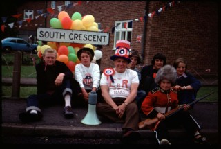A favourite snap taken by my father John Bradshaw during Belvoir Road-Silver Jubilee Celebrations of 1977.  Left to right; Richard Bradshaw, Chris Taylor, Mr Hadlow,