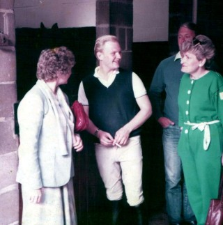 At the Belvoir Hunt Stables in 1986 with my mother and father and Auntie Liz (in green) during a visit from Michael & Liz Bradshaw from Australia.
