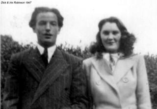 Dick & Iris Robinson 1947 (Dick in his demob suit)