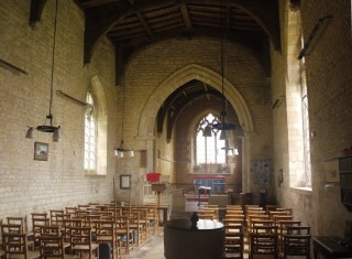 Saltby church interior