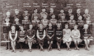 Bottesford School 1947	Top left: Ted Rayson
