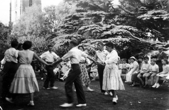 Dancing on the Rectory lawn