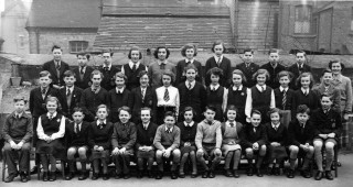 School Group Photo at Muster's Road Secondary School in West Bridgford, taken around 1953/4 after leaving Bottesford.