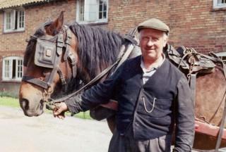 Guy Lovett delivering coal in Church Street
