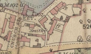 'Smithy' - detail from 19th C map